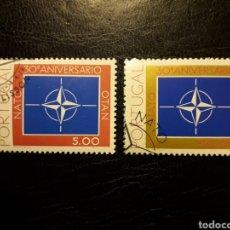 Sellos: PORTUGAL YVERT 1419/20 SERIE COMPLETA USADA 1979. OTAN, NATO. PEDIDO MÍNIMO 3 EUROS PARA ESPAÑA. Lote 227785015