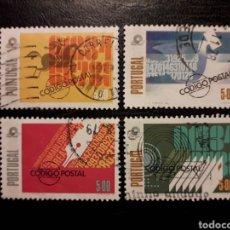 Sellos: PORTUGAL YVERT 1397/400 SERIE COMPLETA USADA 1978. CÓDIGO POSTAL. PEDIDO MÍNIMO 3 EUROS. Lote 227785025
