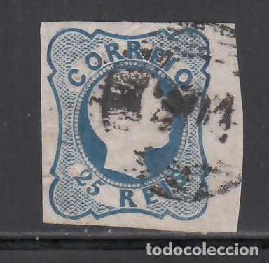 PORTUGAL, 1855-56 YVERT Nº 6, D. PEDRO V . 25 R AZUL (Sellos - Extranjero - Europa - Portugal)