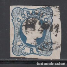 Sellos: PORTUGAL, 1855-56 YVERT Nº 6, D. PEDRO V . 25 R AZUL. Lote 231833580
