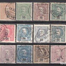 Sellos: PORTUGAL, 1895-1905 YVERT Nº 124 / 138, 140, 143,. Lote 231967690