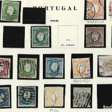 Sellos: PORTUGAL. HOJA CON SELLOS DE REIS DE 1870 - 82, REIS DE 1876 - 94, REIS DE LUIS I DE 1880 - 81. VER. Lote 234840245