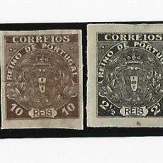 Sellos: LOTE DE 4 SELLOS. PORTUGAL. SIN DENTAR. 2 1/2, 5, 10 Y 35 REIS. VER FOTOS. Lote 234841435