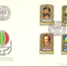 Sellos: SPD -FDC, PORTUGAL, 1972, INDEPENDENCIA DE BRASIL. Lote 235454155