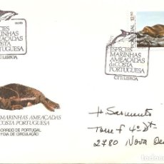 Sellos: SPD -FDC, PORTUGAL, 1983, ESPECIES MARINAS AMENAZADAS-FOCA. Lote 235455480