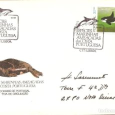 Sellos: SPD -FDC, PORTUGAL, 1983, ESPECIES MARINAS AMENAZADAS-ORCA. Lote 235455640