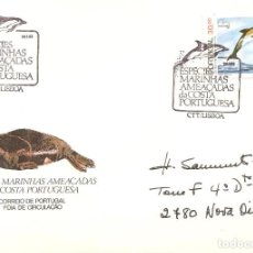 Sellos: SPD -FDC, PORTUGAL, 1983, ESPECIES MARINAS AMENAZADAS-DELFIN. Lote 235455775