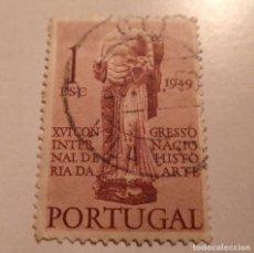 Sellos: SELLO PORTUGAL 1ESC. 1949 HISTORIA DA ARTE SELLADO. Lote 244201900