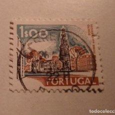 Sellos: SELLO PORTUGAL 1$00 TORRE DE LOS CLERIGOS SELLADO. Lote 244397765