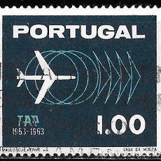 Sellos: PORTUGAL 1963. 10º ANIVERSARIO TAP. AVIONES. YT 932. Lote 244402695