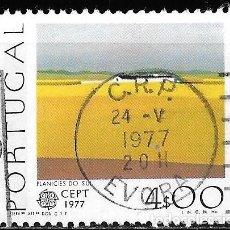 Sellos: PORTUGAL 1977. EUROPA CEPT. PINTURA. PAISAJE YT 1340. Lote 244403070