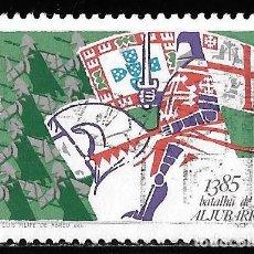 Sellos: PORTUGAL 1985. HECHOS HISTÓRICOS. BATALLA ALJUBARROTA. YT 1636. Lote 244403520