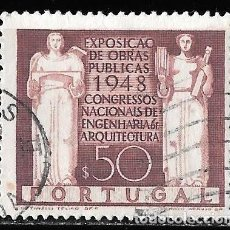 Sellos: PORTUGAL 1948. CONGRESO DE ARQUITECTURA E INGENIERÍA. YT 706. Lote 244406170