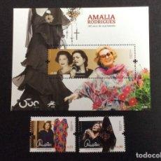 Sellos: PORTUGAL AÑO 2020. MUSICA CENTENARIO NACIMIENTO AMALIA RODRIGUES. Lote 244616100