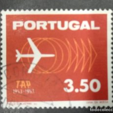 Sellos: PORTUGAL 1963. TAP, 10TH ANNIVERSARY. YT:PT 934,. Lote 244920885