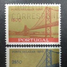 Sellos: PORTUGAL 1966. INAUGURATION OF THE SALAZAR BRIDGE. YT:PT 989,YT:PT 990,. Lote 244921810