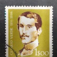 Sellos: PORTUGAL 1957. VERDE, CESÁRIO (1855-1886) POET. YT:PT 841,. Lote 244927455