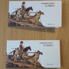 Sellos: 2 CARNETS IGUALES TRANSPORTES TÍPICOS MADEIRA YVERT 105. Lote 251980095