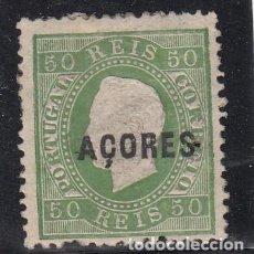 Sellos: AZORES 23 CON CHARNELA, PUNTO AGUJA. Lote 252051790