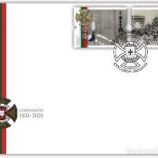 Sellos: PORTUGAL & FDC CENTENARIO DE LA LIGA DE COMBATIENTES 2021 (8679). Lote 254905720