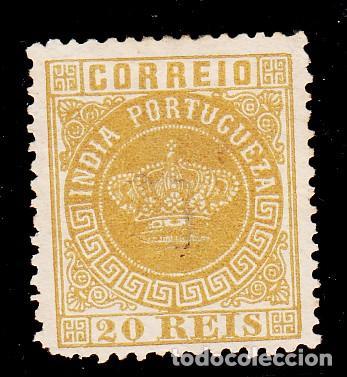 INDIA PORTUGUESA .43A FALTA DIENTE SIN GOMA, (Sellos - Extranjero - Europa - Portugal)
