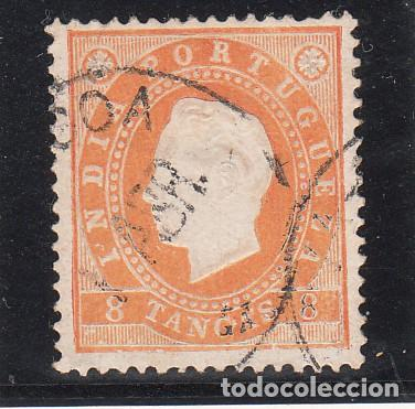 INDIA PORTUGUESA 130B ADELGAZADO USADA, (Sellos - Extranjero - Europa - Portugal)
