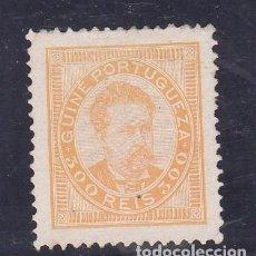 Sellos: GUINEA COLONIA PORTUGUESA 33A ADELGAZADO SIN GOMA,. Lote 259828120