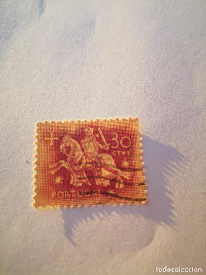 SELLO PORTUGAL CABALLERO 30 ESC 1953 (Sellos - Extranjero - Europa - Portugal)