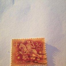 Sellos: SELLO PORTUGAL CABALLERO 30 ESC 1953. Lote 261868265