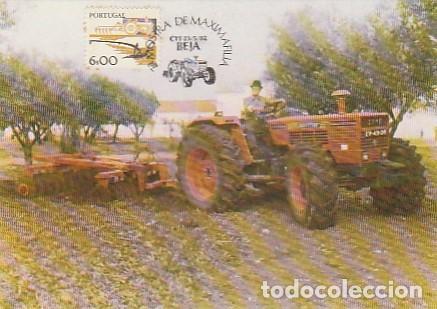PORTUGAL & MAXI, INSTRUMENTOS DE TRABAJO, TRACTOR, ALREDEDORES DE BEJA 1982 (8063) (Sellos - Extranjero - Europa - Portugal)