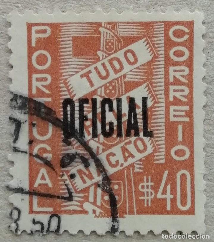 1938. PORTUGAL. SERVICIO OFICIAL NÚMERO 1. SELLO ORIGINARIO DE 1935. USADO. (Sellos - Extranjero - Europa - Portugal)