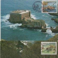 Sellos: SERIE COMPLETA DE PORTUGAL DE 1985 EN TARJETAS TIPO MÁXIMAS. TEMA: PARQUES NATURALES. Lote 267827599