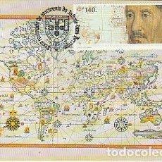 Sellos: PORTUGAL & VI CENTENARIO DEL INFANTE D. HENRIQUE, MAPA DE LOS DESCUBRIMIENTOS 1994 (7). Lote 268266904