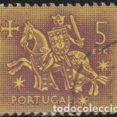 Sellos: PORTUGAL 1953 SCOTT 772 SELLO º CABALLEROS A CABALLO EDAD MEDIA REY DINIZ MICHEL 803 YVERT 785 STAMP. Lote 269122313