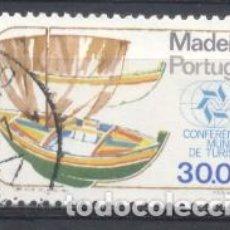 Sellos: MADEIRA, 1980, CONFERENCIA MUNDIAL DE TURISMO, USADO. Lote 269168548