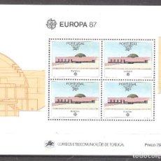Sellos: AZORES H.B. Nº 8** EUROPA 1987. ARQUITECTURA. Lote 271021468