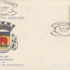 Sellos: ANGOLA & PORTUGAL ULTRAMAR,350 AÑOS DE LA FUNDACIÓN DEL AYUNTAMIENTO DE BENGUELA 1967 (2424). Lote 271063948
