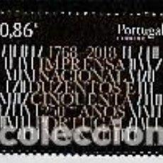 Sellos: PORTUGAL ** & 250 AÑOS DE LA PRENSA EN PORTUGAL 2018 (6820). Lote 271357318