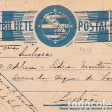 Sellos: PORTUGAL & BILHETE POSTAL DE SÃO PEDRO DO SUL PARA LISBOA 1938 (6861). Lote 276691343