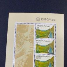 Sellos: PORTUGAL - MADEIRA 1983. YVERT HOJA BLOQUE 41. EUROPA 83. NUEVO. SIN FIJASELLOS.. Lote 277437788