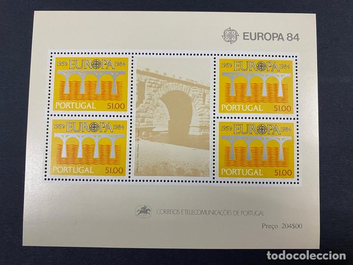 PORTUGAL, 1984. YVERT HOJA BLOQUE 44. EUROPA 84. NUEVO. SIN FIJASELLOS. (Sellos - Extranjero - Europa - Portugal)