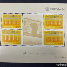Sellos: PORTUGAL, 1984. YVERT HOJA BLOQUE 44. EUROPA 84. NUEVO. SIN FIJASELLOS.. Lote 277437953
