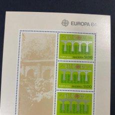 Sellos: PORTUGAL - MADEIRA, 1984. YVERT HOJA BLOQUE 44. EUROPA 84. NUEVO. SIN FIJASELLOS.. Lote 277438058