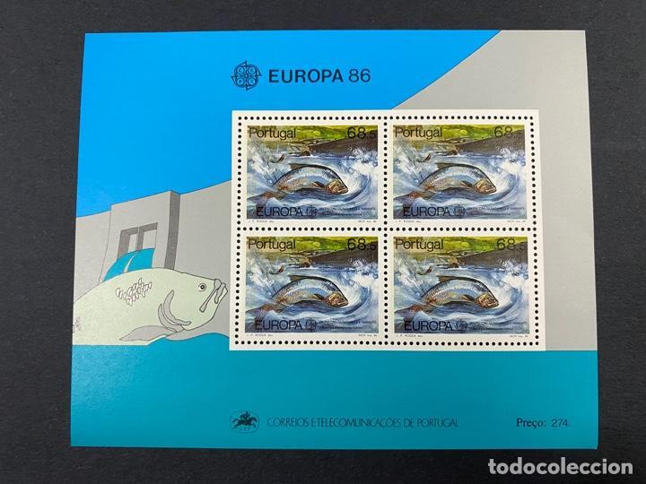 PORTUGAL, 1986. YVERT HOJA BLOQUE 51. EUROPA 86 - PROTECCION NATURALEZA. NUEVO. SIN FIJASELLOS. (Sellos - Extranjero - Europa - Portugal)