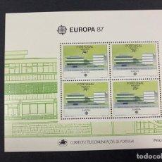 Sellos: PORTUGAL - MADEIRA, 1987. YVERT HB 57. EUROPA 87. NUEVO. SIN FIJASELLOS.. Lote 277441163