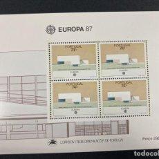 Sellos: PORTUGAL, 1987. YVERT HB 57. EUROPA 87. NUEVO. SIN FIJASELLOS.. Lote 277441393