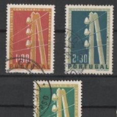 Sellos: PORTUGAL 1955 TELEGRAFO COMPLETA USADA * LEER DESCRIPCION. Lote 278531028