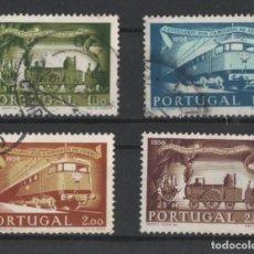 Sellos: PORTUGAL 1956 CAMINHOS DE FERRO TRENES COMPLETA USADA * LEER DESCRIPCION. Lote 278531093