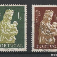Sellos: PORTUGAL 1956 DIA DE LA MADRE COMPLETA USADA * LEER DESCRIPCION. Lote 278531118