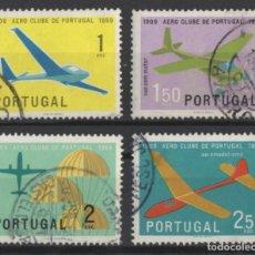 Sellos: PORTUGAL 1960 AERO CLUBE AVIONES COMPLETA USADA * LEER DESCRIPCION. Lote 278531388